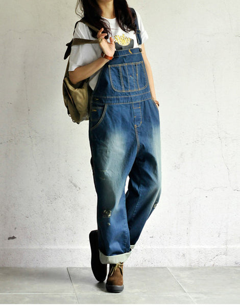 Roomy Denim Overalls - Sassy Posh - 12