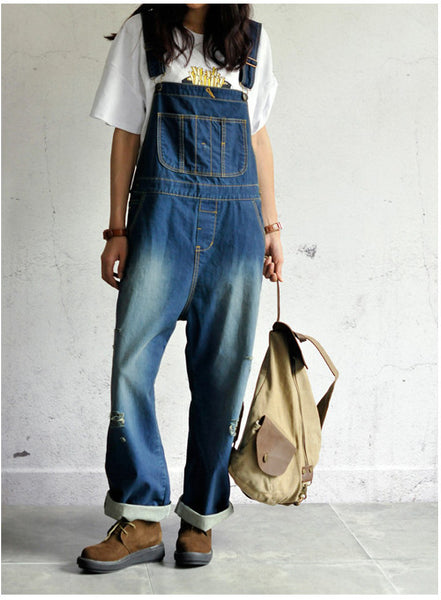 Roomy Denim Overalls - Sassy Posh - 9