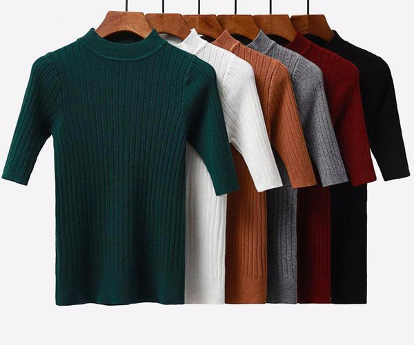 Slim Mock-Turtleneck Sweater