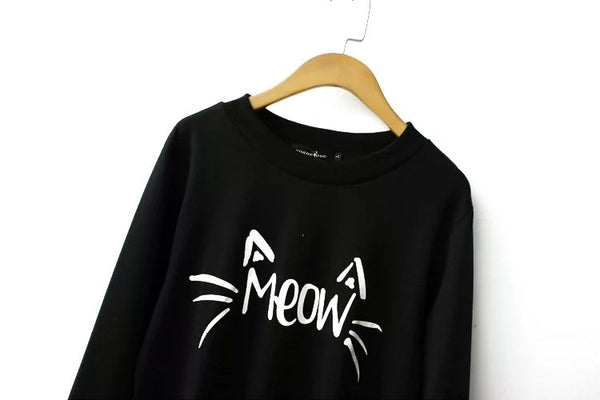 Cat's Meow sweatershirt - Sassy Posh - 3