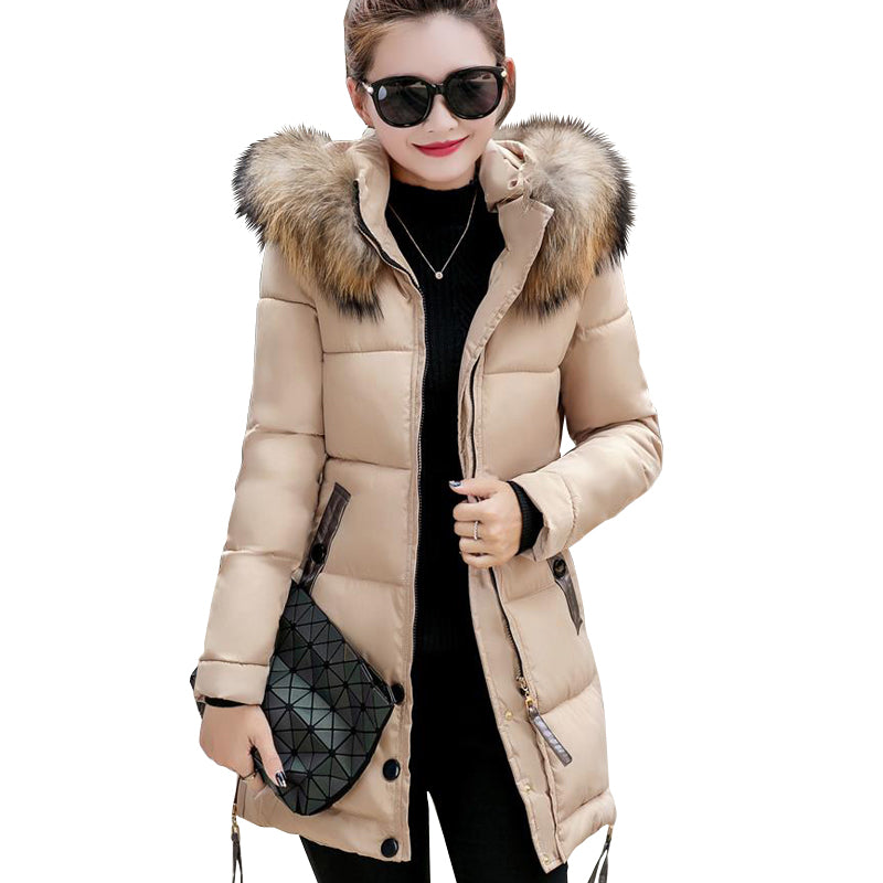Fur collar parka -Extended Sizes!