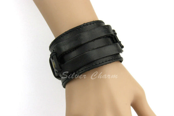 Boho Leather Cuff - Sassy Posh - 4