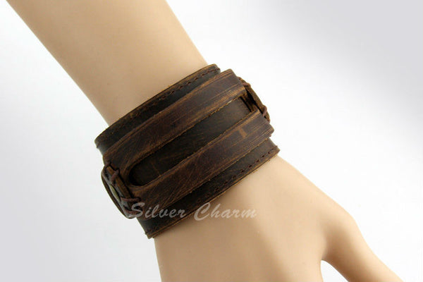 Boho Leather Cuff - Sassy Posh - 3