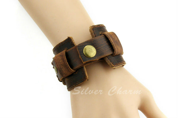 Boho Leather Cuff - Sassy Posh - 8
