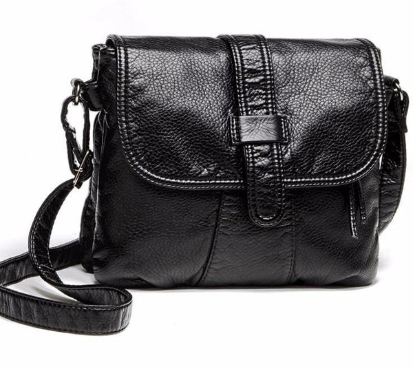 Soft leather Messenger Crossbody bag