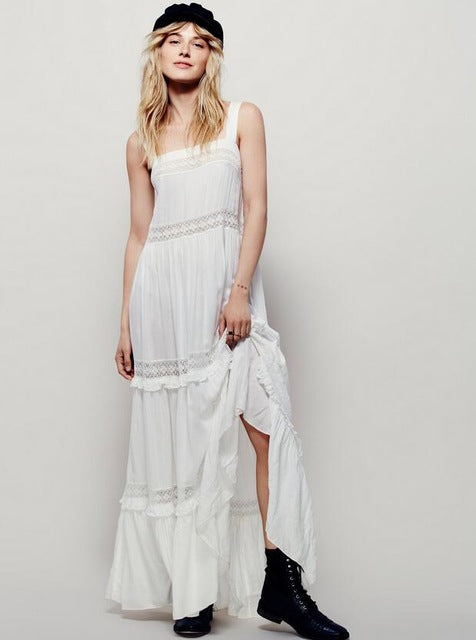 bohemian cotton maxi dress