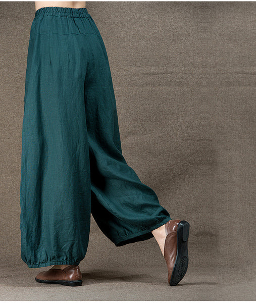 Linen Embroidery Wide Leg Pants - Sassy Posh - 7