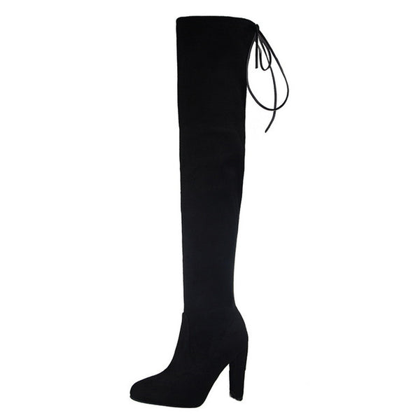 Lace up Thigh High boots