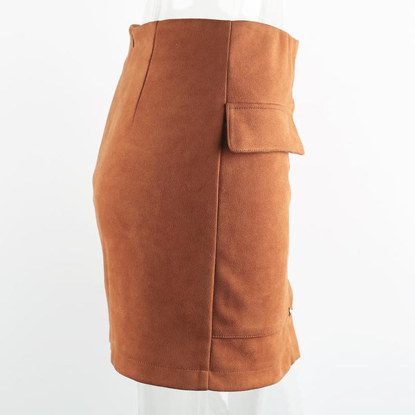 Lace Up Suede Skirt - Sassy Posh - 7