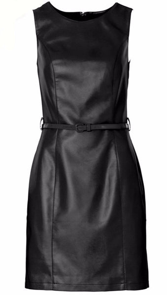 Vegan Leather Dress - Sassy Posh - 2