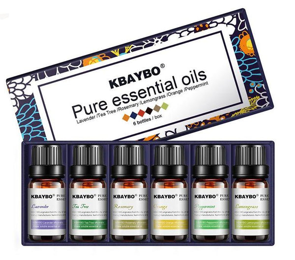 Essential Oil for Diffuser, Aromatherapy Oil \6  Fragrances of Lavender, Tea Tree, Rosemary, Lemongrass, Orange