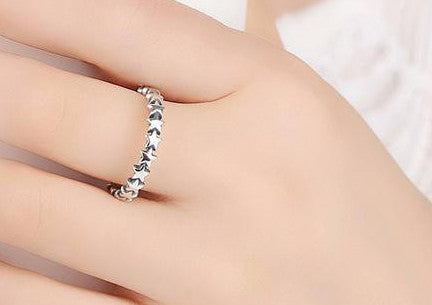 Stackable Ring 100% 925 Sterling Silver - Sassy Posh - 4