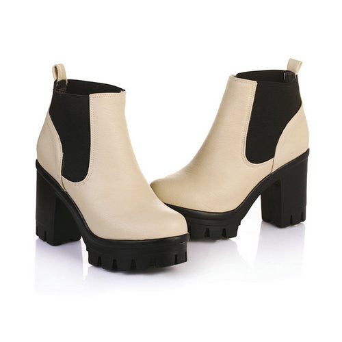 Platform Slip On Winter Snow Booties