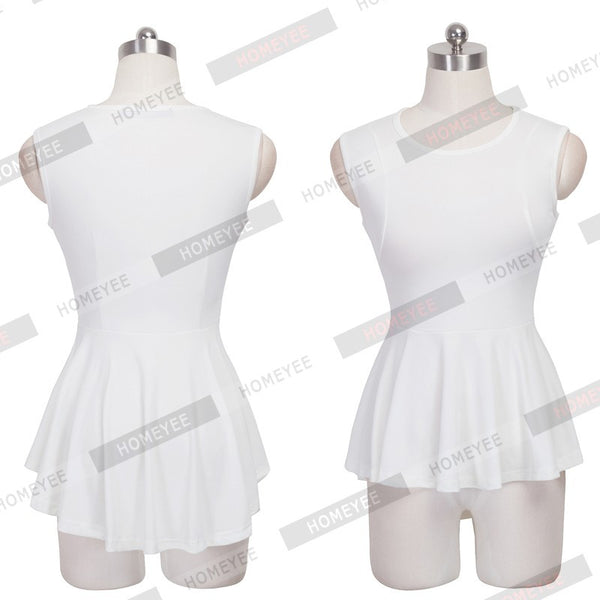 New Peplum Frill Hem Sleeveless Lady Bodycon Tunic Women Casual Solid Color O Neck Tank Top Blouse With Loose Ruffles Tails 112 - Sassy Posh - 4