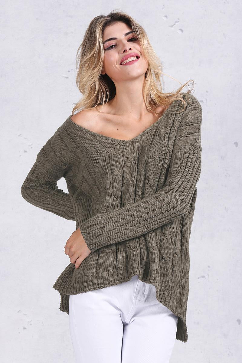 Oversized Criss cross Back sweater - Sassy Posh - 1