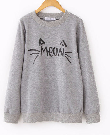 Cat's Meow sweatershirt - Sassy Posh - 2