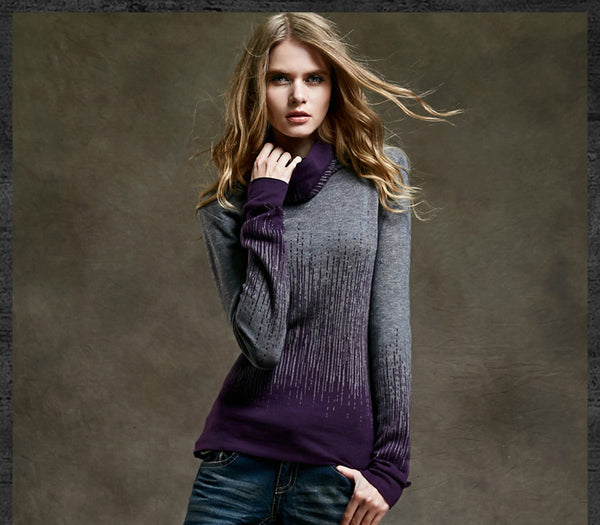 Cashmere Turtleneck Sweater - Sassy Posh - 2