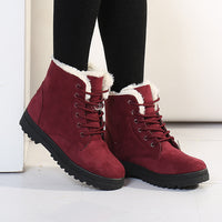 Lace Up Plush lined Ankle Boots