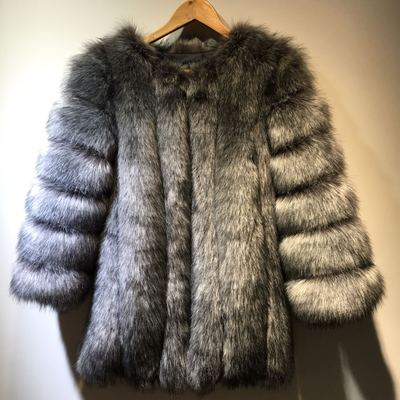 Extended sizes/ Faux Fox Fur jacket
