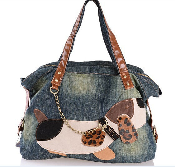 Walkin the Dog Tote Bag - Sassy Posh - 1