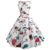Floral Elegant Sleeveless Vintage Dress
