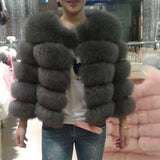 Posh Fox Fur Jacket - Sassy Posh - 8