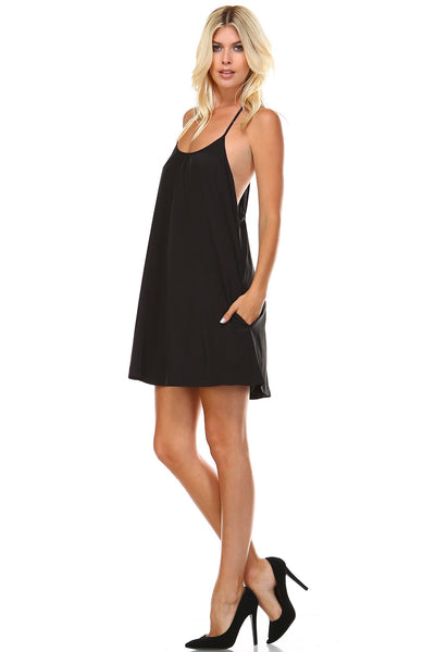 Women's Spaghetti-Strap Swing Dress
