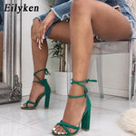 Strappy Lace-Up High Heel