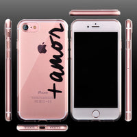 Case For iPhone 7 Transparent TPU Soft Cover For iPhone7 Plus 6 6S 5S Clear Silicone Rubber - Sassy Posh - 2