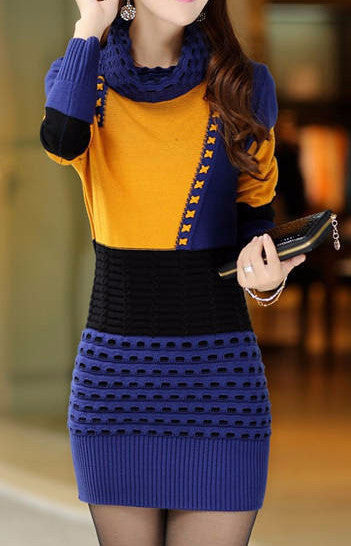 Turtleneck Sweater Dress - Sassy Posh - 8