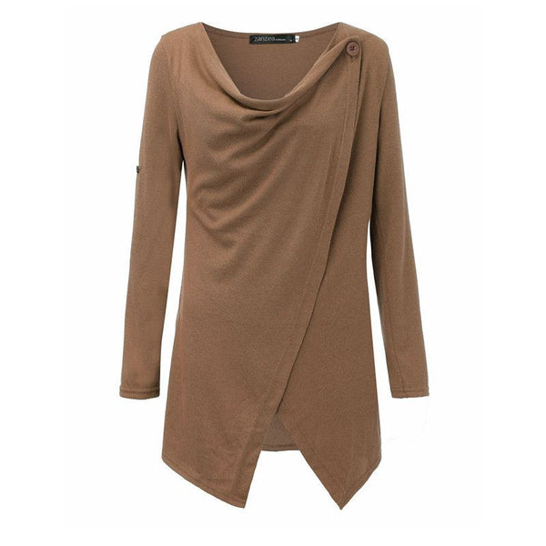 Long Sleeve Cowl Neck Knitt Sweater - Sassy Posh - 7