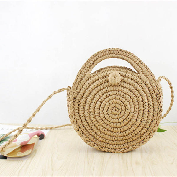 Round Straw Crossbody handbag