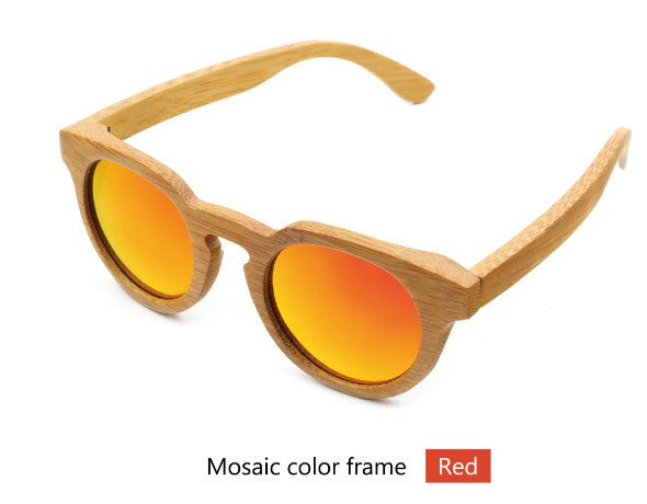 Bamboo wood retro sunglasses - Sassy Posh - 4