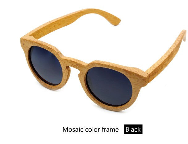 Bamboo wood retro sunglasses - Sassy Posh - 8