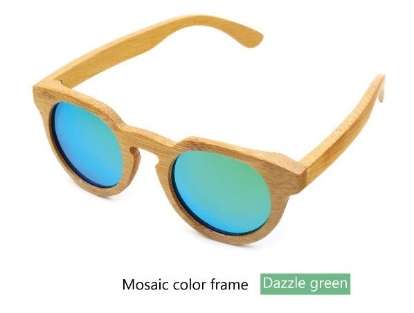 Bamboo wood retro sunglasses - Sassy Posh - 2