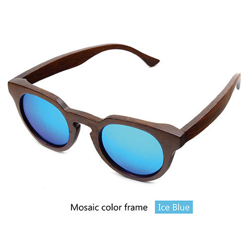 Bamboo wood retro sunglasses - Sassy Posh - 7