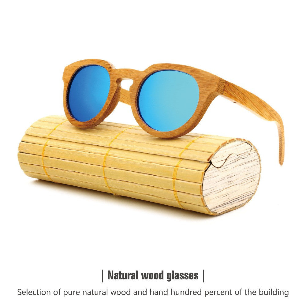 Bamboo wood retro sunglasses - Sassy Posh - 1