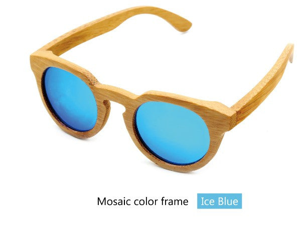 Bamboo wood retro sunglasses - Sassy Posh - 5