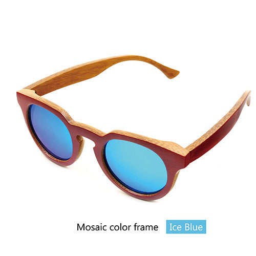 Bamboo wood retro sunglasses - Sassy Posh - 3