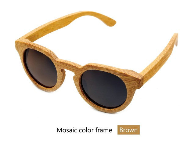 Bamboo wood retro sunglasses - Sassy Posh - 10