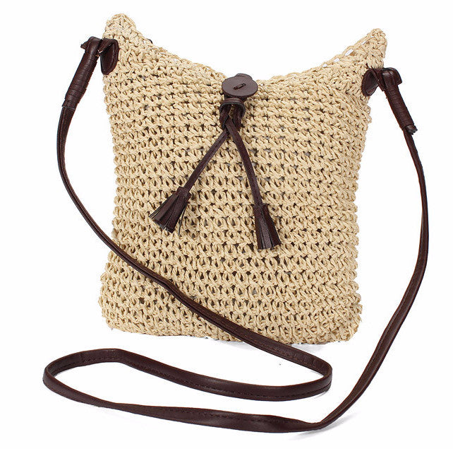 On the Road Again Crossbody Jute Handbag - Sassy Posh - 1
