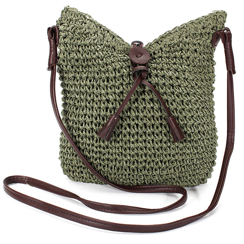 On the Road Again Crossbody Jute Handbag - Sassy Posh - 2