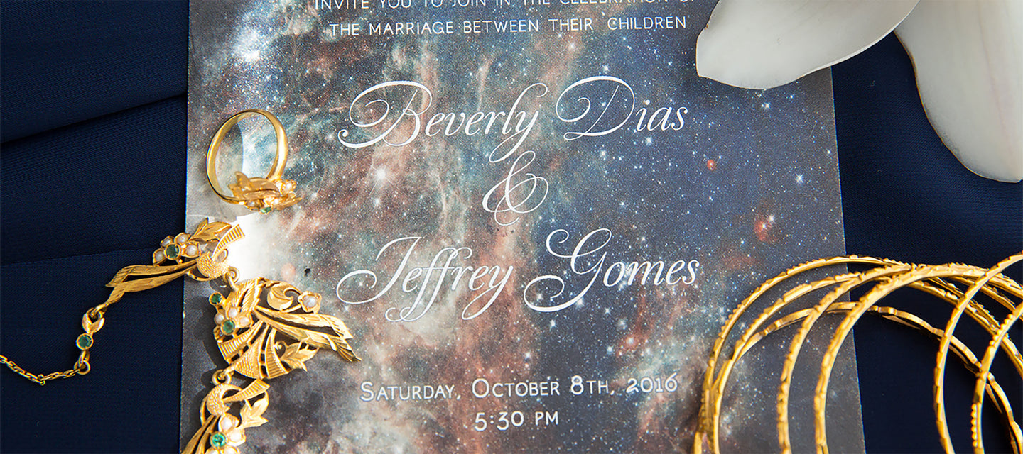 Space Themed Wedding Invitations