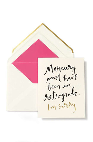 Mercury Retrograde - I'm Sorry Card