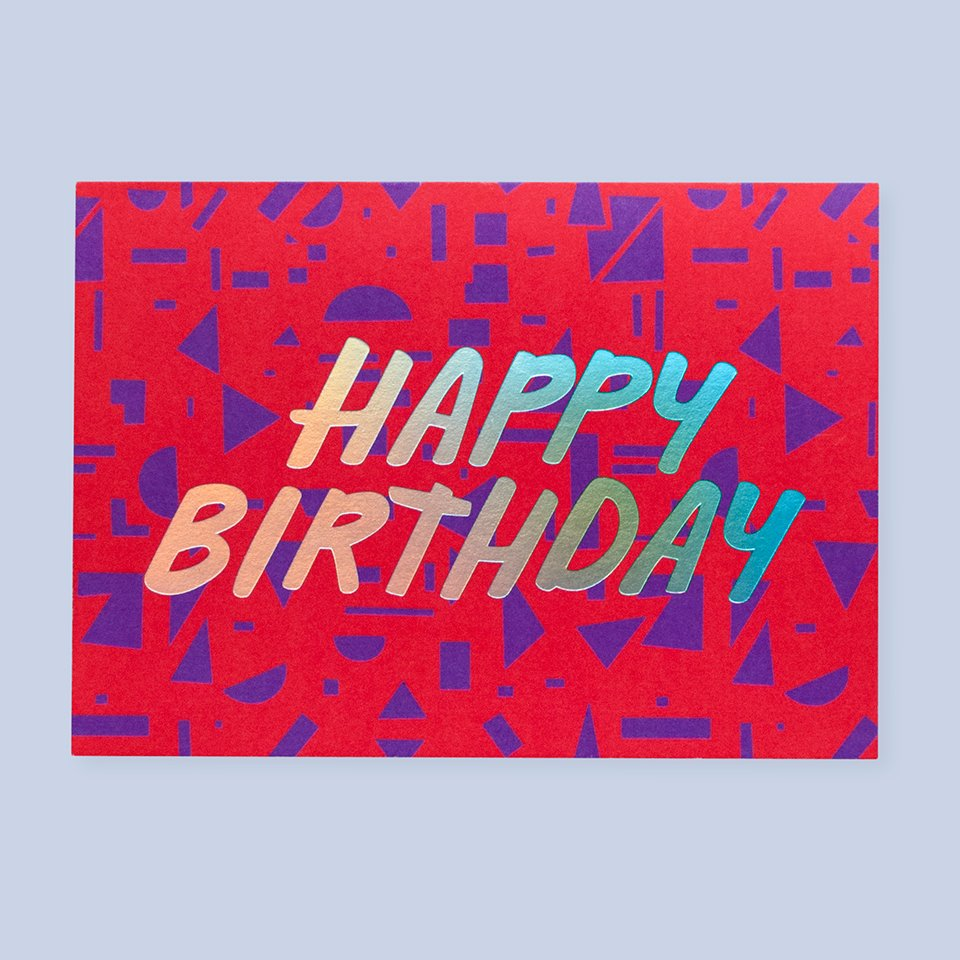 Shapes Birthday Card