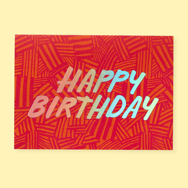 Crosshatch Birthday Card