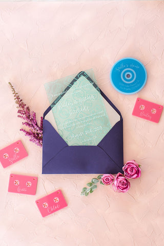 Screen Printed Acrylic Invitations