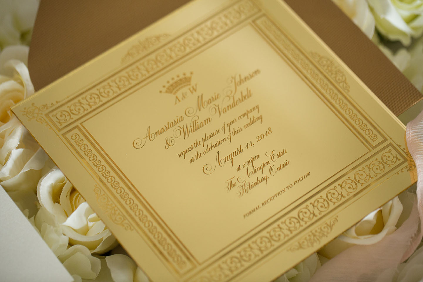 Gold Acrylic Invitation