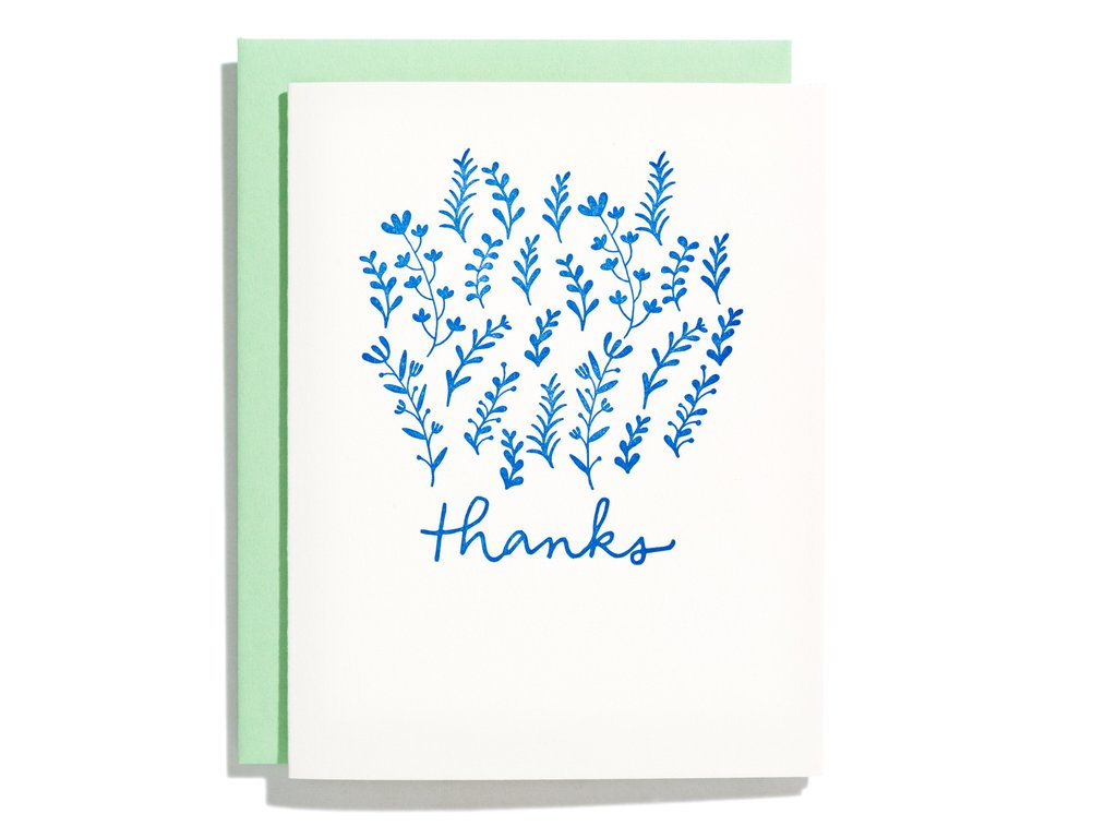 A Garden of Thanks Card