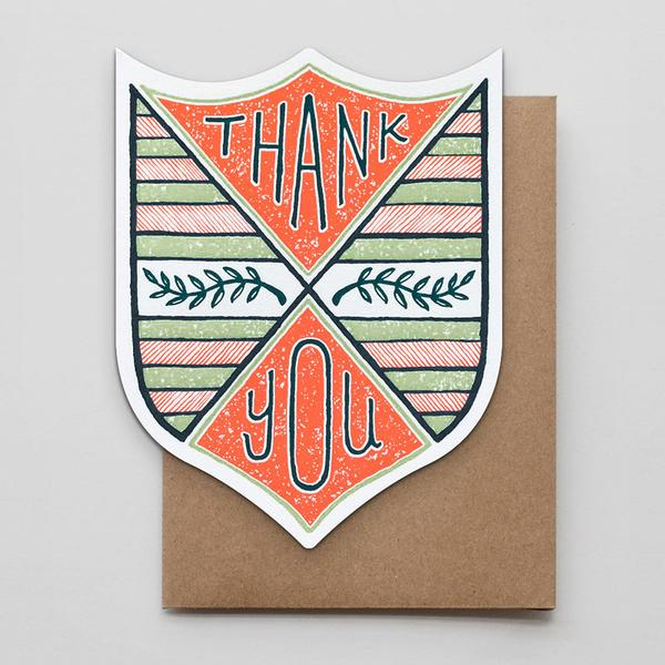 Thank You Laurel Badge Card